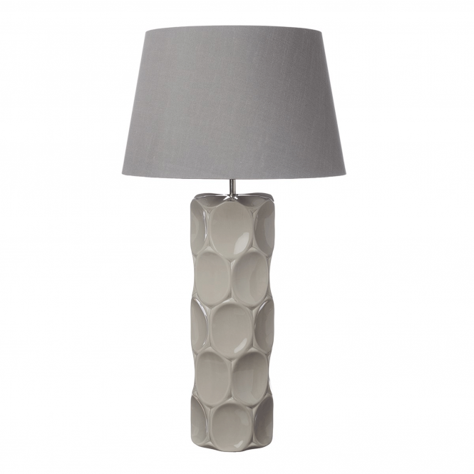 Dar Lighting Sintra Taupe Ceramic Table Lamp Base