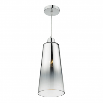 Smokey Easy Fit Chromed Glass Shade
