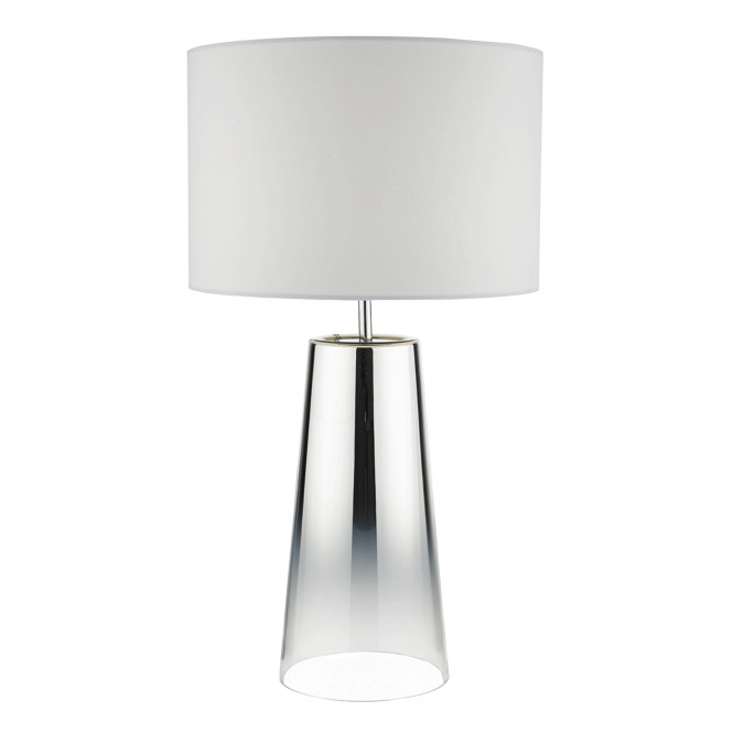 Dar Lighting Smokey Graduated Chromed Glass Table Lamp