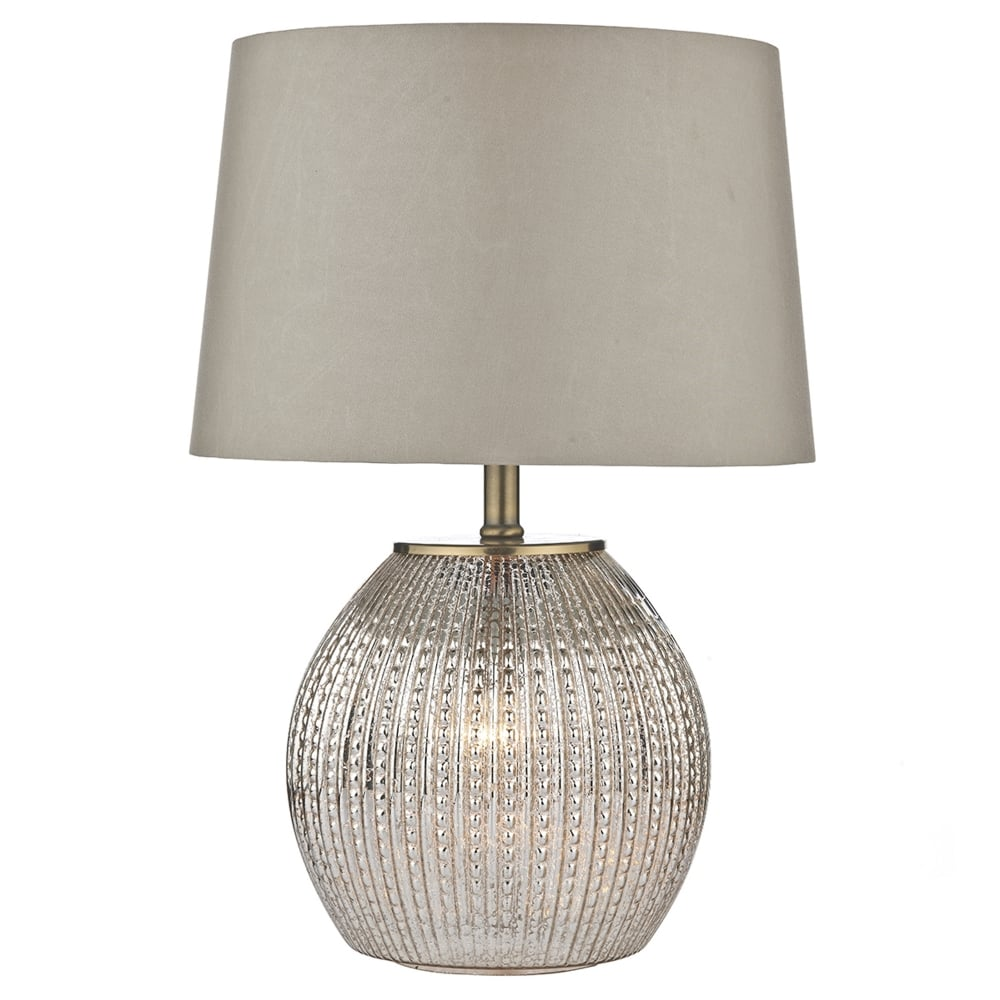 Ordinaire Sonia Table Lamp With Illuminated Antique Silver Glass Base