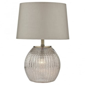 Sonia Table Lamp with Illuminated Antique Silver Glass Base