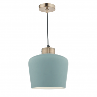 Sullivan Pendant in Blue/Green with Antique Copper