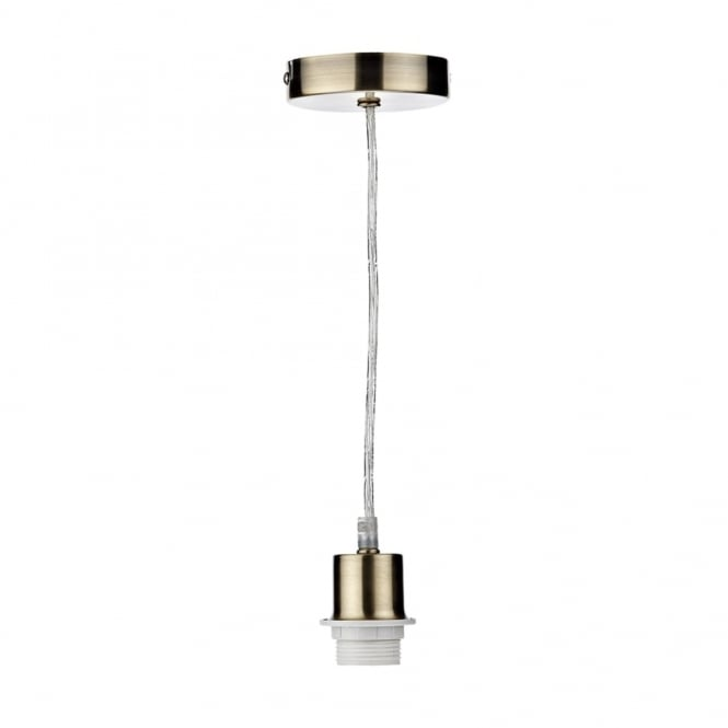 Dar Lighting Suspension Kit in Antique Brass with Clear Cable