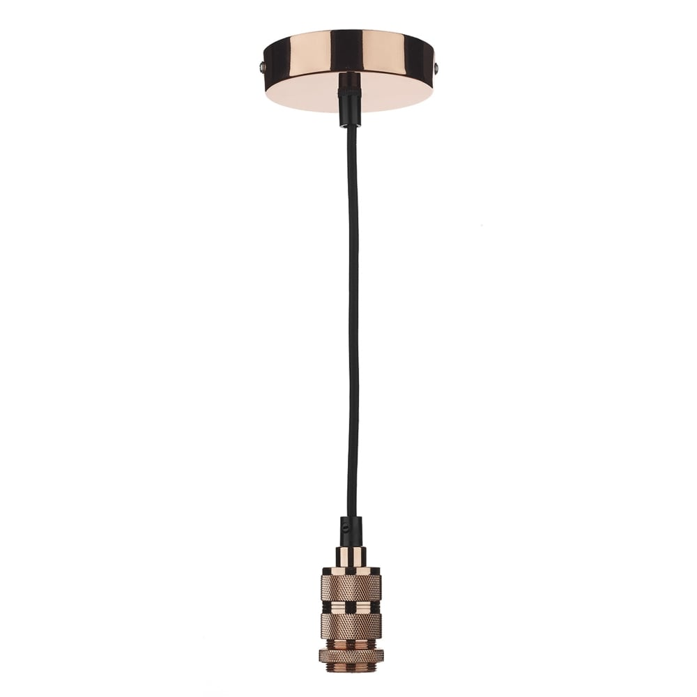 dar sp0164 suspension kit in copper with black cable 40w max. Black Bedroom Furniture Sets. Home Design Ideas