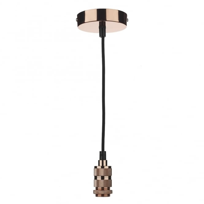 Dar Lighting Suspension Kit in Copper with Black Cable (40w max)