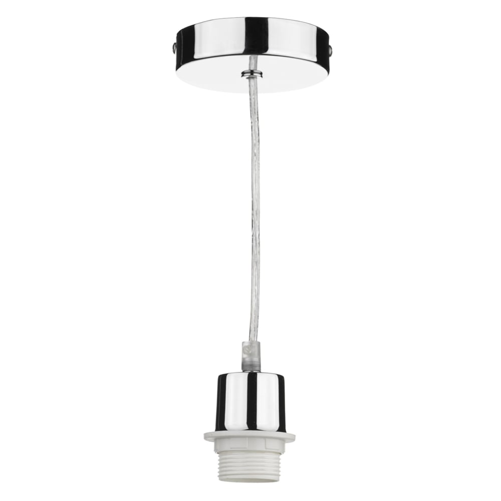 Chrome lights chrome light fittings dusk lighting suspension kit in polished chrome with clear cable aloadofball Choice Image