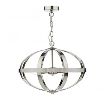 Symbol Triple Light Pendant in Satin Chrome