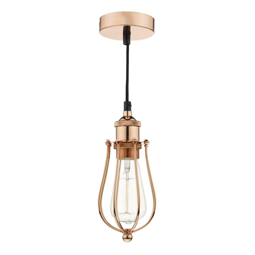 Commercial Lighting Types: Dar Lighting Taurus Industrial Style Pendant In Copper