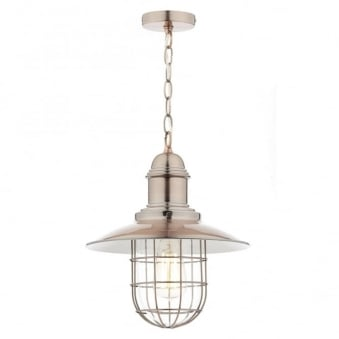Terrace Single Pendant in a Copper Finish