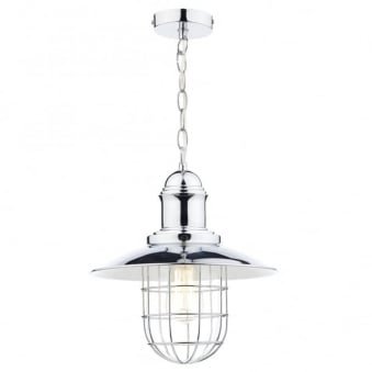Terrace Single Pendant in Polished Chrome