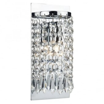 Tiara Wall Light with Crystal Glass Beads and Droppers