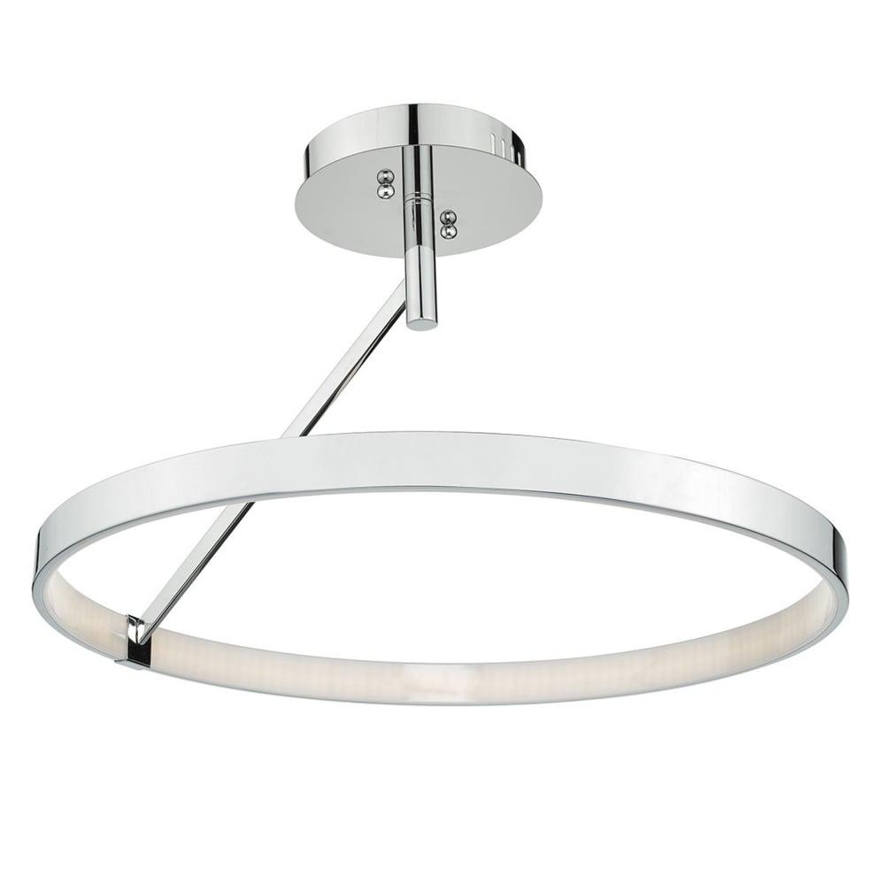 Dar ree1750 reeve led circle pendant in aluminium and white acrylic tivoli led semi flush polished chrome ceiling light mozeypictures Image collections