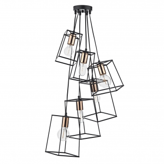 Tower Six Light Cluster Pendant