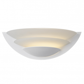 Una Wall Light in White and Opal Glass