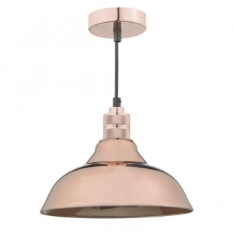 Urban Easy Fit Pendant Shade in Bright Copper
