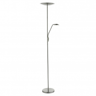 Utah LED Mother and Child Floor Lamp in Satin Nickel
