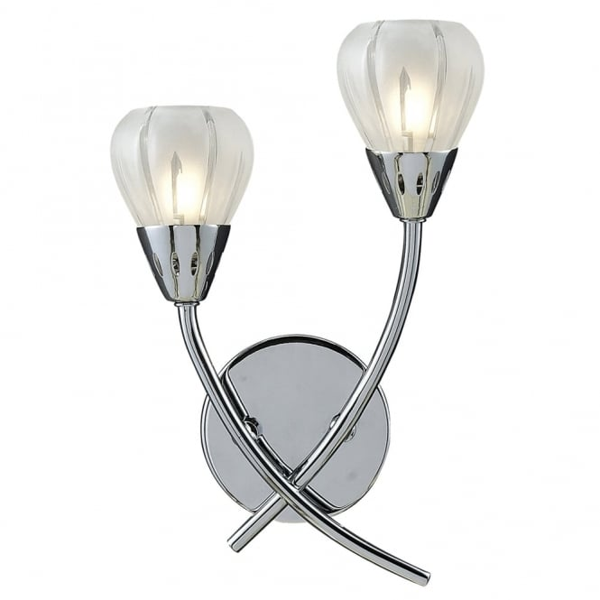 Dar Lighting Villa Double Wall Light in Polished Chrome