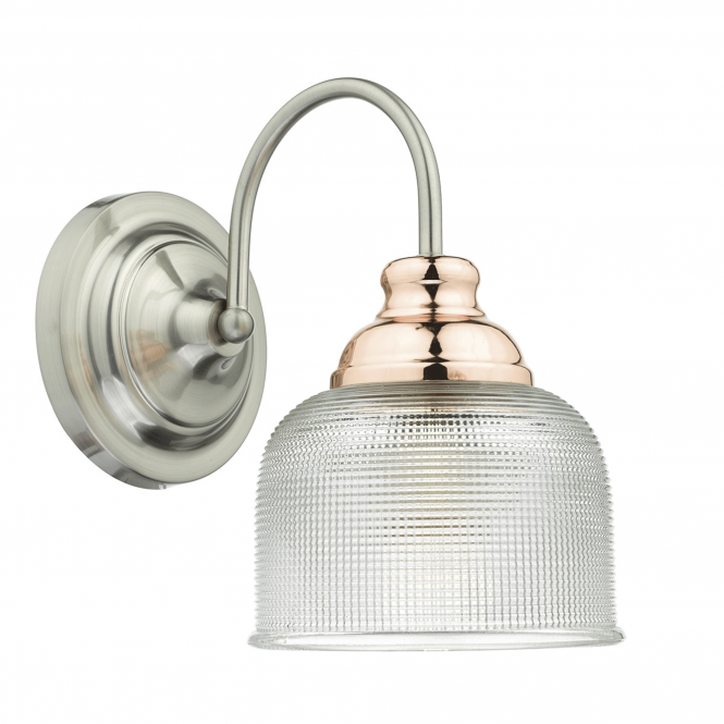 Dar Lighting Wharfdale Satin Chrome Wall Light