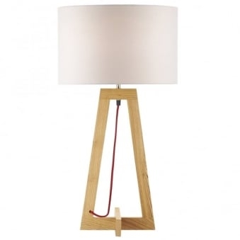 Wisconsin Ash Wood Table Lamp Base
