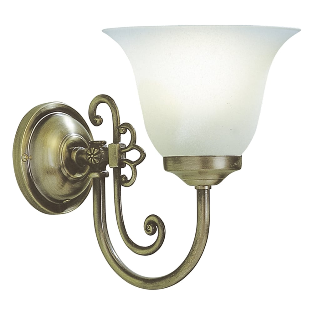 save off ad4e2 927c3 Woodstock Single Wall Light in Antique Brass