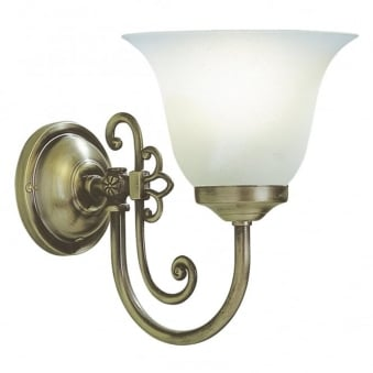 Woodstock Single Wall Light in Antique Brass