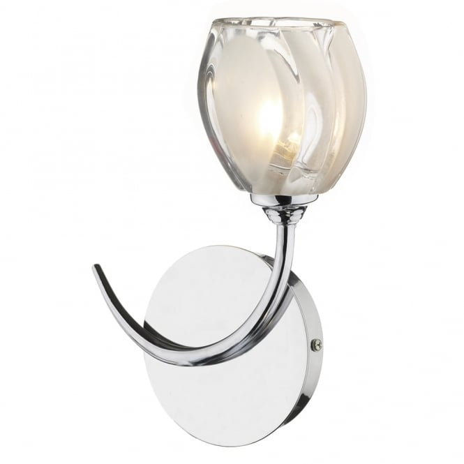 Dar Lighting Zagreb Single Wall Light in Polished Chrome