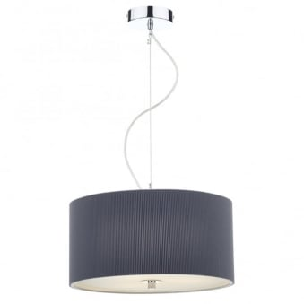 Zaragoza 40cm Three Light Pendant in Grey