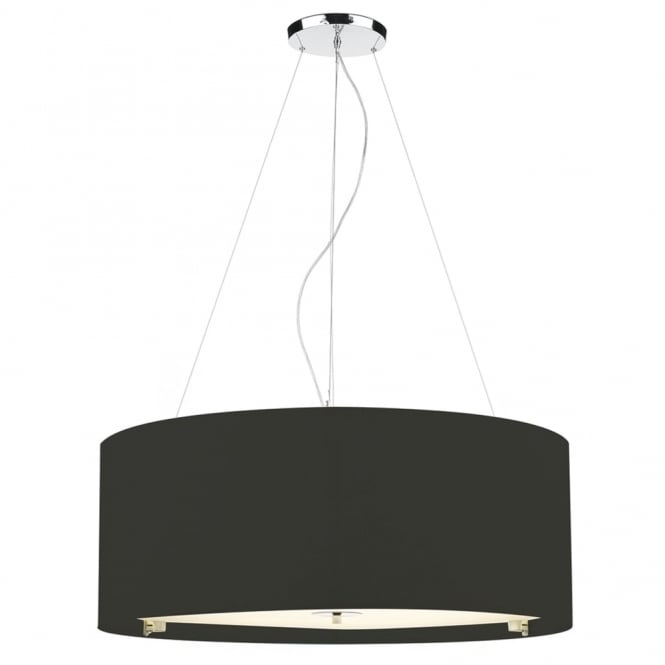 Dar Lighting Zaragoza 90cm Six Light Pendant in Black
