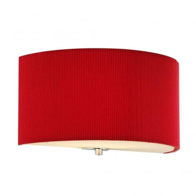 Dar Lighting Zaragoza Wall Light in Red