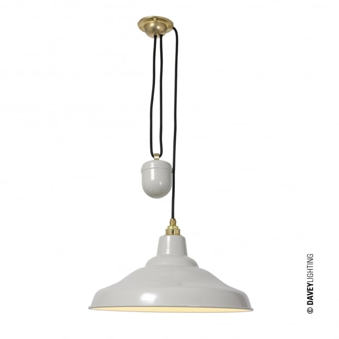 Davey Lighting Rise and Fall School Light in Putty Grey
