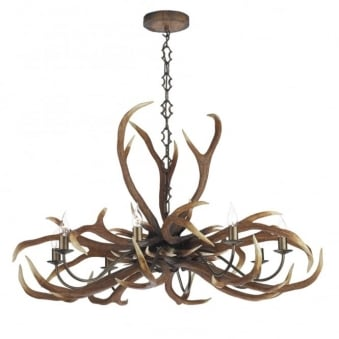 Antler Emperor Eight Light Pendant