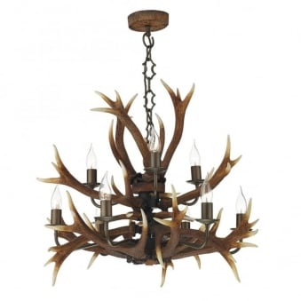 Antler Nine Light Tiered Pendant