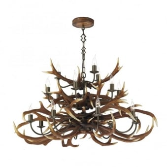 Antler Seventeen Light Tiered Pendant
