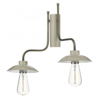 Axel Double Left Hand Wall Light in French Cream