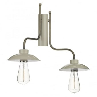 Axel Double Right Hand Wall Light in French Cream