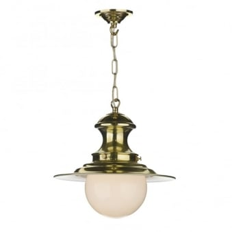 Baby Station Pendant in Brass
