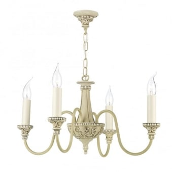 Bailey Four Light Pendant in Antique Cream