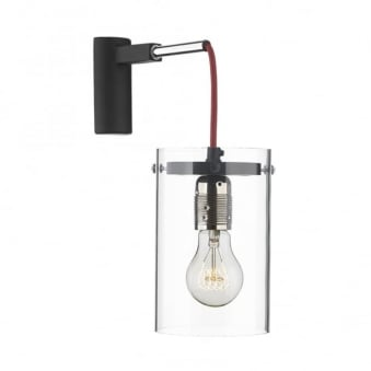 Cincinnati Red Cable & Clear Shade Wall Light