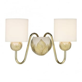 Dahlia Wall Light in Solid Brass