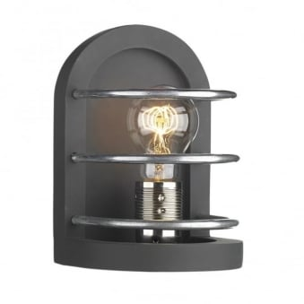 Detroit Wall Light in Matt Black and Old Iron