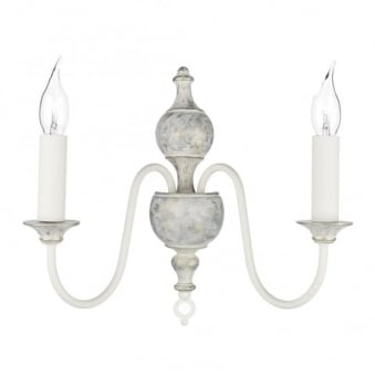 Flemish Wall Light in Powder Grey