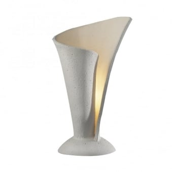 Orchid Table Lamp in a Stone Finish