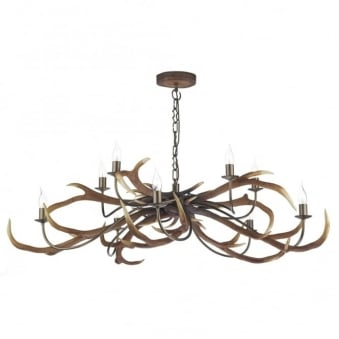Stag Ten Light Pendant in Highland Rustic