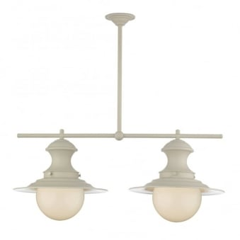 Station 2 Light Bar Pendant in Cream