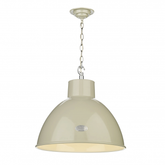 Utility Large Pendant in French Cream Gloss