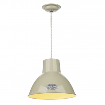 Utility Small Pendant in French Cream Gloss