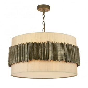 Willow Pendant Light in Gold Cocoa
