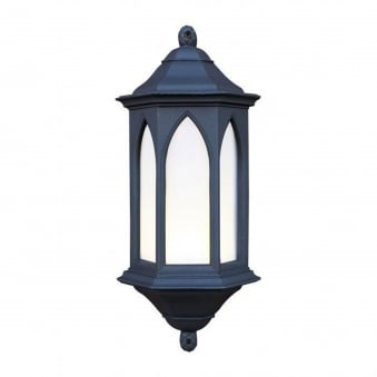 York Exterior Wall Lantern in Black Stone