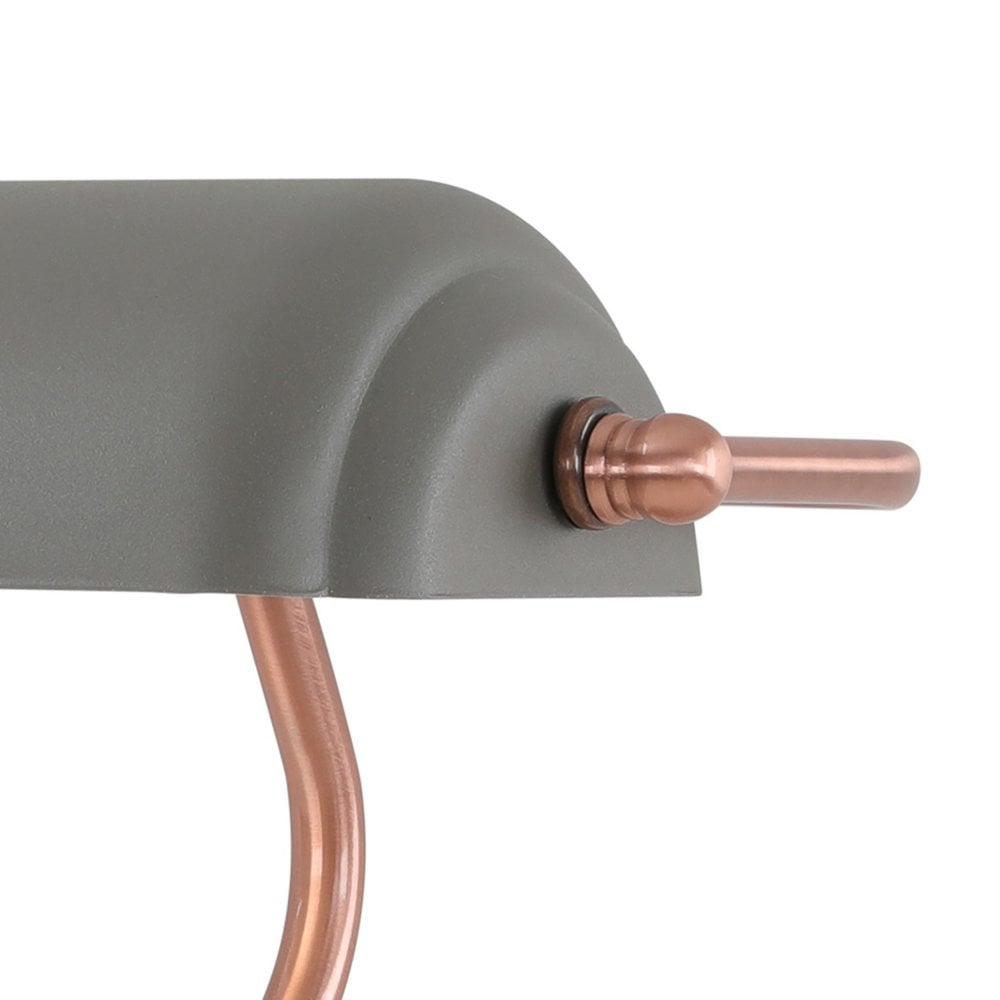 Sand Grey and Copper Desk Lamp in