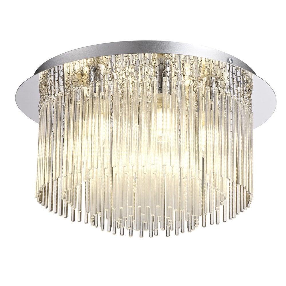 Eggesford Ip44 Six Light Bathroom Flush Ceiling Light